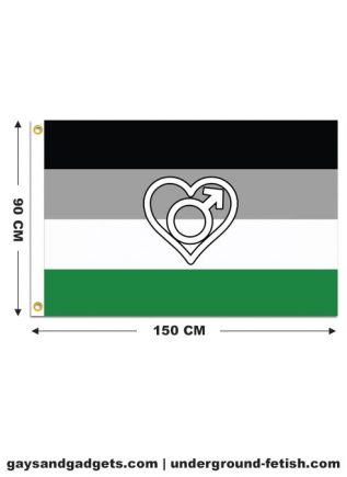Flag Androphilia Pride Printed 90 x 150 cm