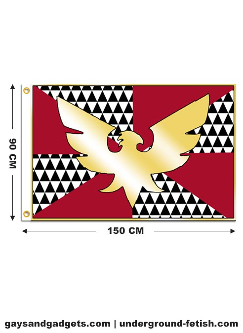 Flag Feather (Drag) Pride Printed 90 x 150 cm