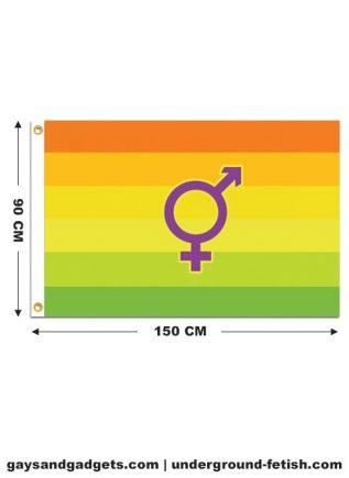 Flag Hermaphrodite Pride Printed 90 x 150 cm