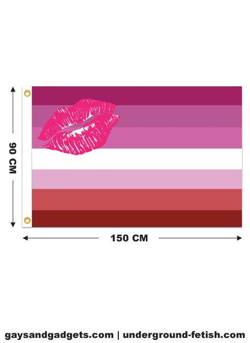 Flag Lipstick Lesbian Pride Printed 90 x 150 cm