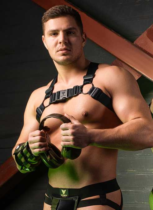 Maskulo Enforce Bulldog Harness Black