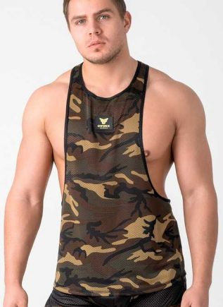 Maskulo Enforce Camo Tank Top Small