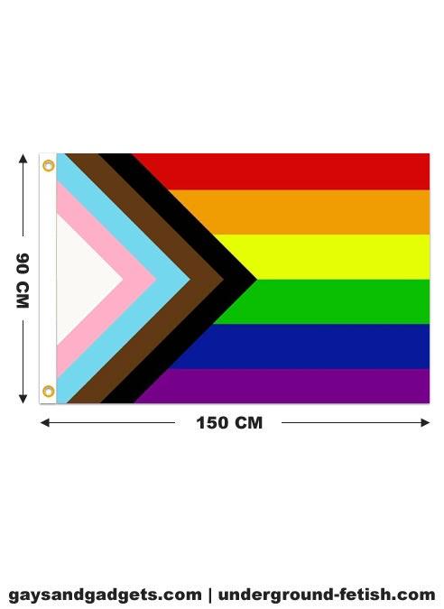Flag Progress Pride Printed 90 x 150 cm