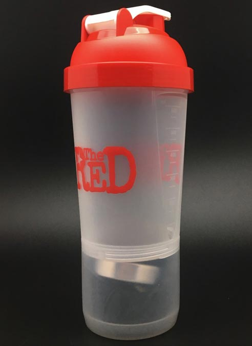 The Red Lube Shaker with Compartment