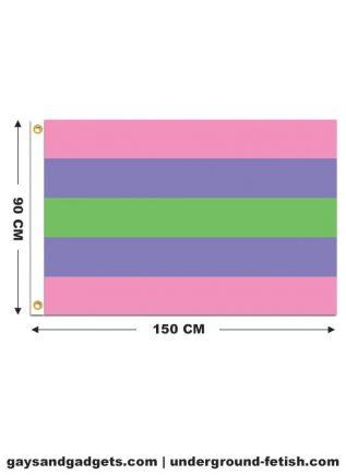 Flag Trigender Pride Printed 90 x 150 cm
