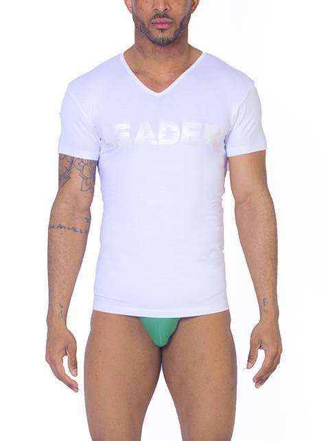 Leader Luxury Iridescent T-Shirt White Small