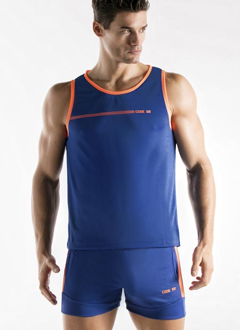 CODE 22 Active Tank Top Blue Extra Large