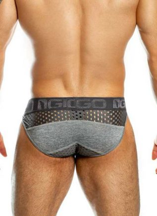 Gigo Brief Mesh Mixture Grey Extra Large