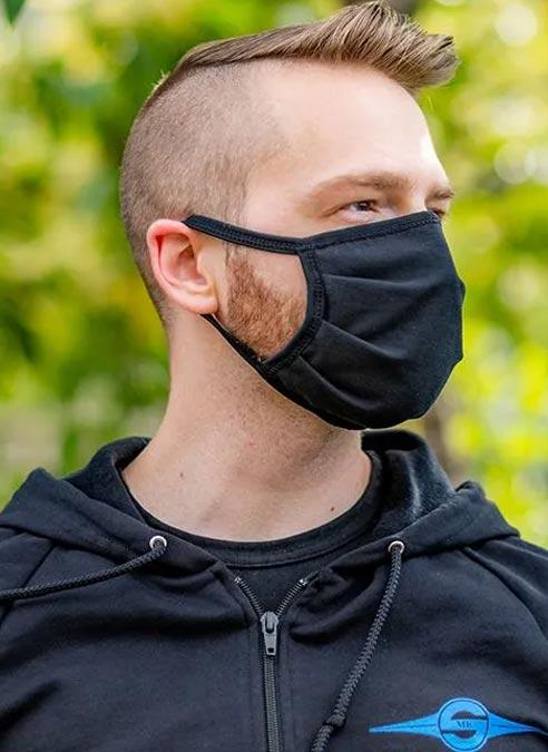 Mr. S Reversible Hanky Facemask Bone Red