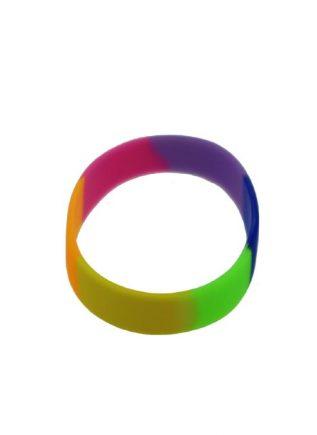 Pink Rainbow Silicone Bracelet Tie-Dye