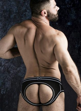 Locker Gear Backless Brief with Front Opening White Small