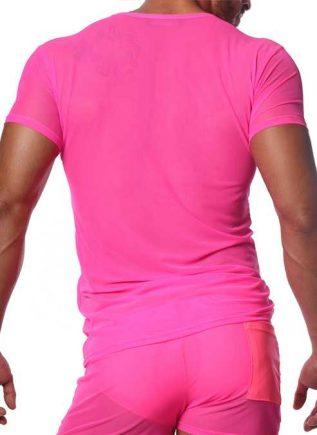 ToF Paris Happy T-Shirt Neon Pink Small